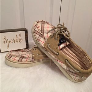 Sperry Top-Sider Plaid Shoes Size 6.5M